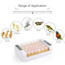 24-Eggs Incubator Temperature Control Digital Automatic Hatching Chicken U4M9