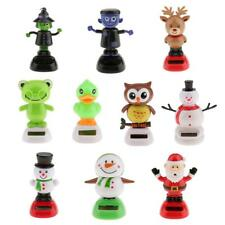 Lovely Solar Powered Flip Flap Bobble Toy Auto Car Home Ornament Dancing Toy NEW