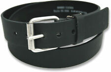 """MENS REAL GENUINE LEATHER BELT JEANS IN BLACK 38MM WIDTH SIZES 28"""" - 54"""" S - XXL"""