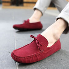Genuine Suede Leisure 2017 Fashion Mens Comfy Non-Slip Moccasins Driving Shoes T