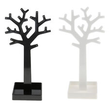 Charm Acrylic Tree Jewelry Display Holder Earring Necklace Ring Stand Hanger