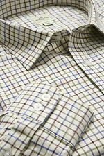 HOGGS OF FIFE TATTERSALL SHIRT WINE/BLUE/GREEN VARIOUS SIZES