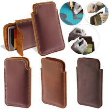 For LG Spirit H443 Escape 2 2nd Gen 2015 Genuine Leather Pouch Sleeve Case Cover