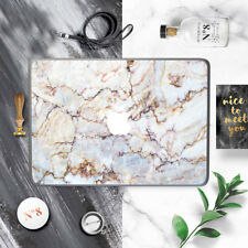 Golden Marble case for MacBook Air Pro Retina 15, 13, 12 Touch Bar