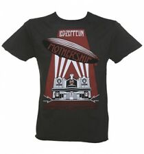 Official Men's Led Zeppelin Mothership Charcoal T-Shirt from Amplified