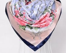 Ladies Autumn Winter Scarf Print Silk Big Square Ladies Adult Head Scarves Shawl