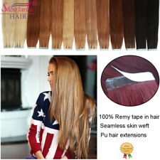 Remy Tape In Hair Extensions Seamless Skin Weft Human Hair 20 Pcs Grade 10A