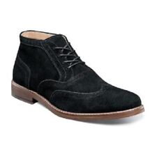 Stacy Adams Arley wingtip chukka boot Mens Black Suede Lace Up Dressy 25131-008