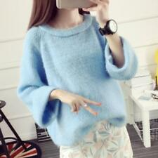 Women Sweater Autumn Spring Girl Loose Fit Pullover Knitted Jumper Tops Blouse
