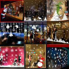 Christmas Holiday Tree Snowflake Window Stickers Door Wall Clings Decal Decor