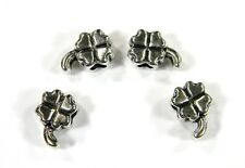Antique Silver Irish Clover Beads For Paracord Bracelets & Lanyards - US Seller