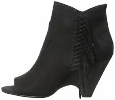 Carlos by Carlos Santana Womens Peyton Leather Open Toe Ankle Fashion Boots F...