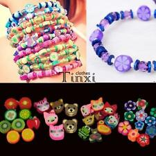 100pcs colorful Fimo Polymer Clay Fruit Spacer Beads for Bracelets Pendant TX