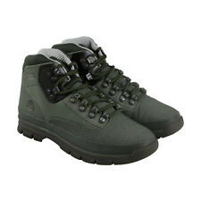 Timberland Jacquard Euro Hiker Mens Green Canvas Casual Dress Boots Shoes