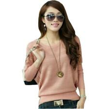 Women's Sweaters For Fashion Thin Knitted Cotton Bat Wing Long Sleeve Pullovers