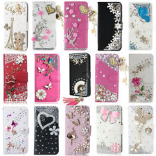 Stylish Bling Rhinestone Flip Leather Wallet Stand Case Cover For BlackBerry
