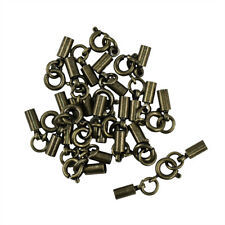 12pc Antique Metal Crimp Tube Spring Ring Clasp 3mm DIY Jewelry Finding Making