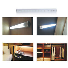 30/50cm LED PIR Motion Sensor LED Drawer Under Cabinet Night Light Battery Power