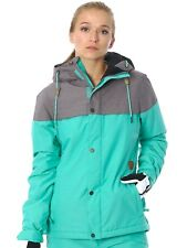 Volcom Teal Green Bolt Insulated Womens Snowboarding Jacket