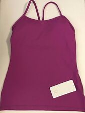 LULULEMON ATHLETICA Power Y Tank ULTRA VIOLET 8 or 10 NWT Bra Top Fitness