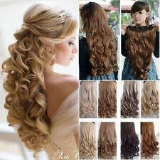 Clip In Hair Extensions 100% Natural Thick Half Full Head Long 5Clips On Hair FO