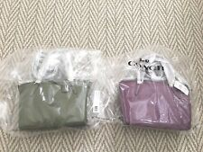 NEW COACH mini kelsey satchel crossbody in pebble leather F57563 MAUVE or GREEN