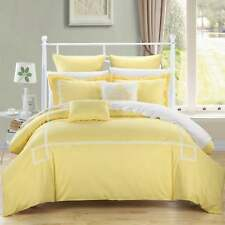 Chic  Home Willard Yellow Embroidered 11-piece Bed in a Bag Comforter Set