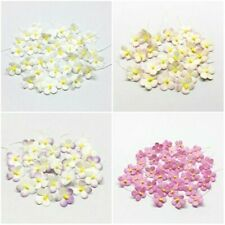 100 Mini Daisy Mulberry Paper Flowers 17 mm Wedding Card Scrapbooking Craft Art
