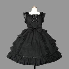 Womens Gothic Lolita Dress Lace Princess Bubble Lolita Gown Cosplay Costumes