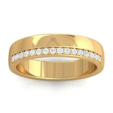 0.15ct FG SI Women's Classic Eternity Wedding Anniversary Band Yellow Gold