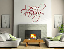 Love my family wall sticker quote | Family wall sticker | Family quote decal