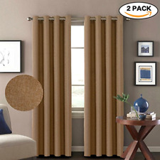 Thermal Insulated Blackout Curtains Patio Window Curtain Drapes 2 Panels Pair