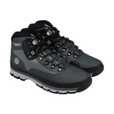Timberland Euro Hiker Mens Gray Mesh Casual Dress Boots Shoes