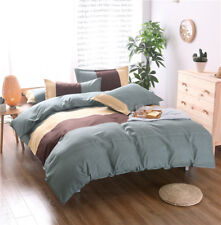 Single Queen King Bed Set Pillowcase Quilt Cover Cotton Blend Taul Simple twl