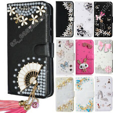 Flip Wallet Leather Case for Samsung galaxy Crystal Rhinestone Fitted Cover Skin