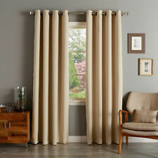 Aurora Home Grommet-top Thermal Insulated 120-inch Blackout Curtain Panel Pair -