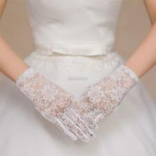 Women Wedding Party Evening Lace Floral Gloves Bridal Gloves Sunscreen EFFU