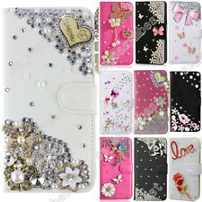 Wallet Case Case Bling Diamond Crystal PU Leather Flip Cover Skins For Samsung