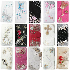 Fashion Wallet Case Cards Pocket Cover Rhinestone PU Leather Skins for iPhone