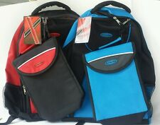 Access Intense Backpack/Bookbag Insulated Lunch Bag Nylon Red School Gym Work