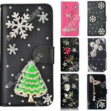 Diamond Rhinestone Bling Phone Case Cute Leather Cover Skin for iPhone/Samsung