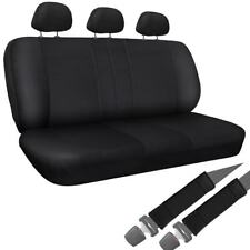 Oxgord Synthetic / Imitation Leather 8-piece Bench Seat Cover Set for Any Split