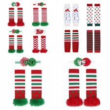 Infant Baby Girl boys Christmas Cotton Tights Ruffle Socks Leg Warmers  Winter