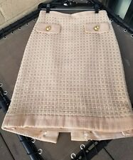 NWT $335 MILLY BEIGE COLOR TEXTURED FLARE AMAZING SKIRT SZ 6 FREE SHIPPING