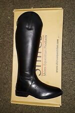 SHIRES LONG BLACK LEATHER BOOTS HORSE RIDING FOOTWEAR STABLE YARD UK 4 EURO 37