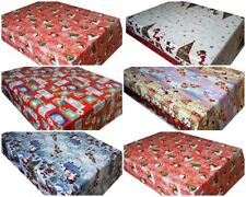 CHRISTMAS WIPE CLEAN PVC VINYL TABLECLOTH OILCLOTH WIPEABLE TABLECLOTH