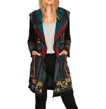 Biya by Johnny Was Women's Whalin Embroidered Long Hoodie Black