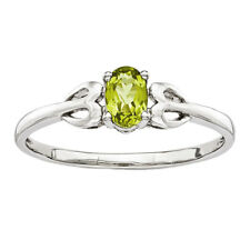 925 Sterling Silver Peridot Oval Cut Ring - 0.522cttw