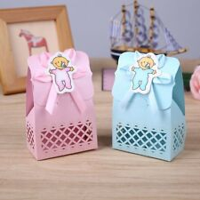 12pcs Baby Infant Birthday Cute Paper Hollow Sculptures Pacifier Candy Box