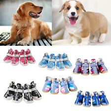 4Pcs Pet Dog Cat Cozy Protective Boots Puppy Waterproof Anti-Slip Shoes Booties